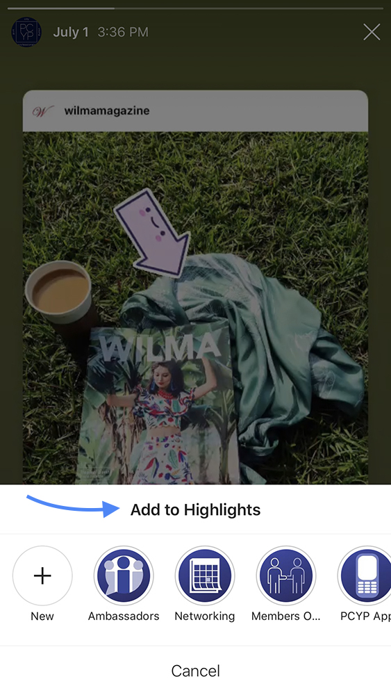 How to Add an Instagram Story Image to Highlights