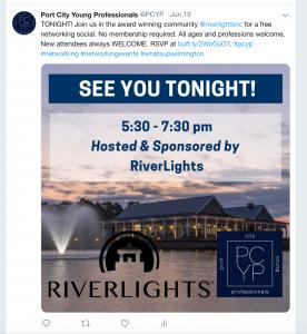 PCYP tweet about event